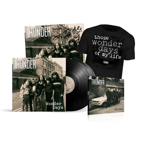 Buy Online Thunder - Wonder Days - Deluxe Heavyweight LP, T-Shirt & Signed Print Bundle