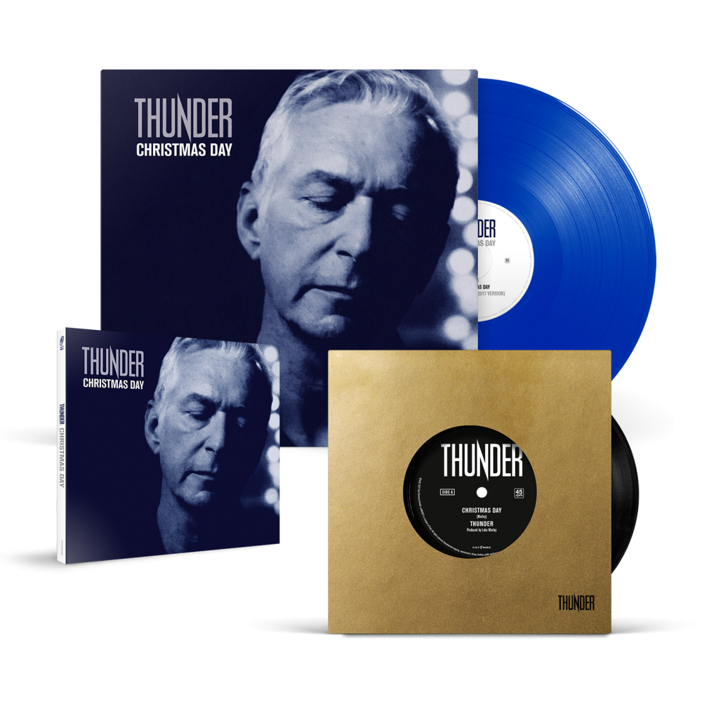 Buy Online Thunder - Christmas Day CD Single + 7-Inch + 10-Inch Blue Vinyl
