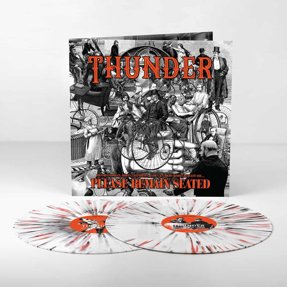 Buy Online Thunder - Please Remain Seated Orange Splatter Gatefold Double Vinyl (Exclusive To This Store)