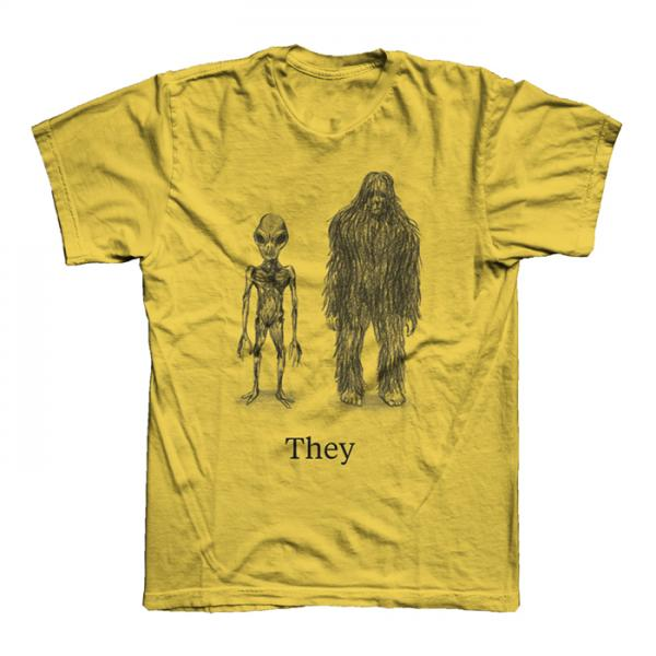 Buy Online They Might Be Giants - Ladies Gold Cryptid T-Shirt