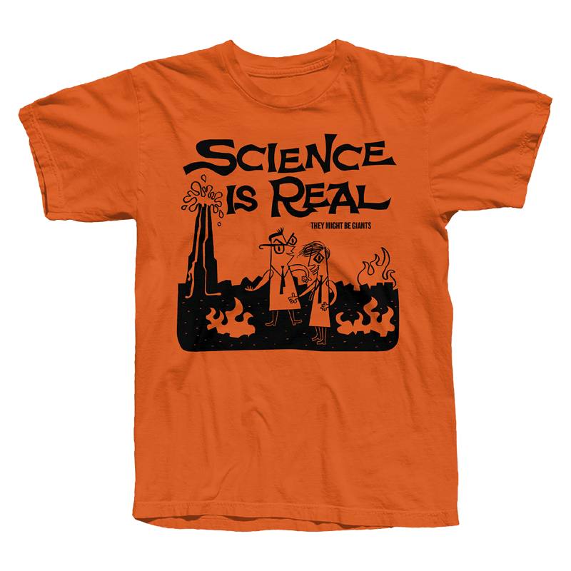 Buy Online They Might Be Giants - Science Is Real Orange T-Shirt