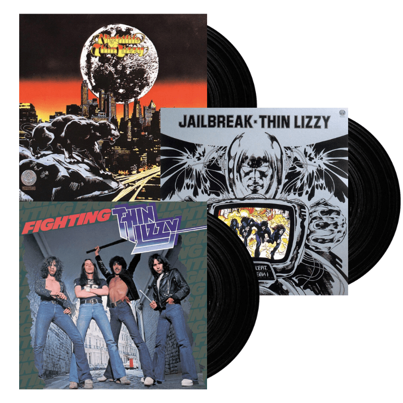 Buy Online Thin Lizzy - Nightlife Vinyl + Fighting Vinyl + Jailbreak Vinyl