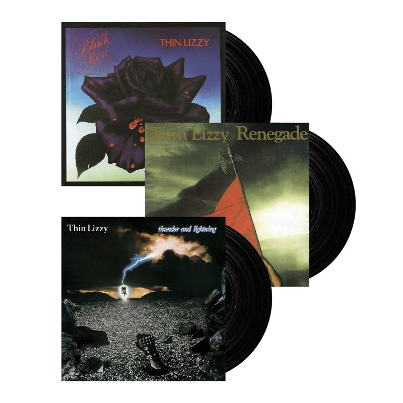 Buy Online Thin Lizzy - Black Rose, Renegade, Thunder & Lightning Vinyl