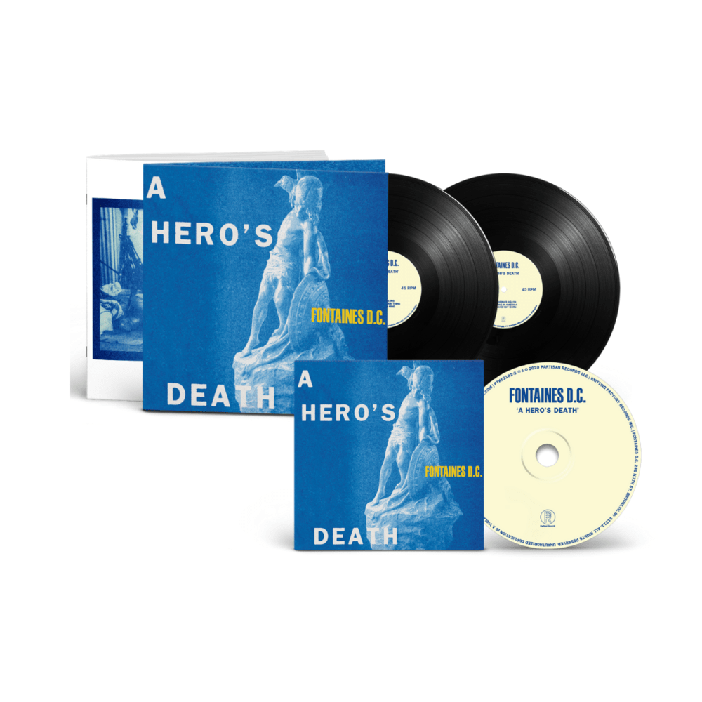 Buy Online Fontaines D.C. - A Hero's Death Deluxe Heavyweight Double Vinyl + CD