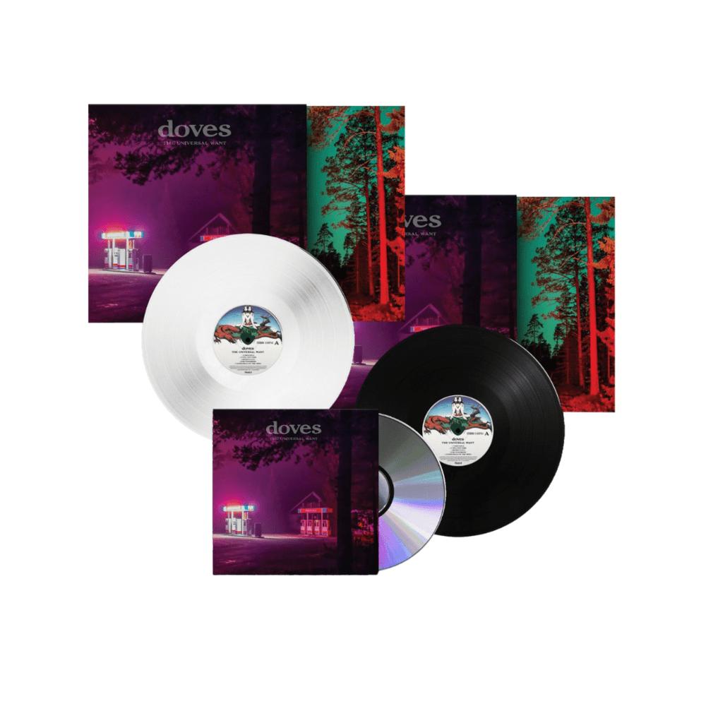 Buy Online Doves - The Universal Want Limited Edition White Vinyl + Black Vinyl + CD