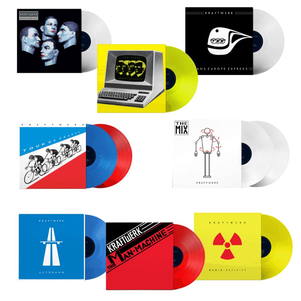 Buy Online Kraftwerk - Studio Albums Limited Edition 8LP Colour Vinyl Bundle