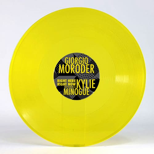 Buy Online Giorgio Moroder - Right Here Right Now feat. Kylie Minogue Yellow
