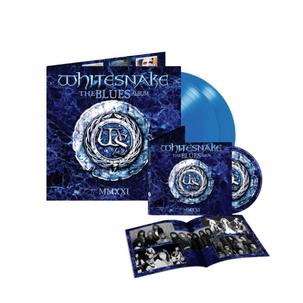 Buy Online Whitesnake - The Blues Album Limited Edition Ocean Blue Double Vinyl + CD