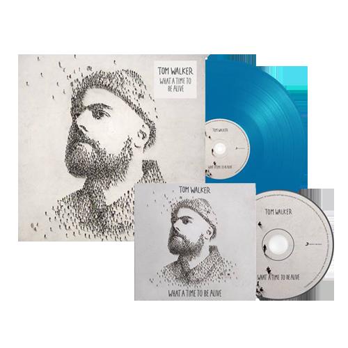 Buy Online Tom Walker - What A Time To Be Alive CD (Signed) + Blue Vinyl (Signed)