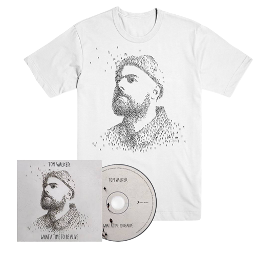 Buy Online Tom Walker - What A Time To Be Alive CD (Signed) + T-Shirt