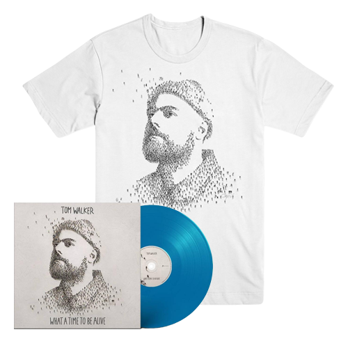 Buy Online Tom Walker - What A Time To Be Alive Blue Vinyl + T-Shirt