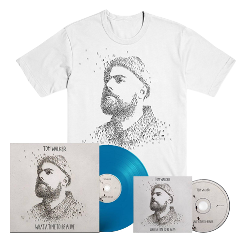 Buy Online Tom Walker - What A Time To Be Alive CD (Signed) + Blue Vinyl (Signed) + T-Shirt