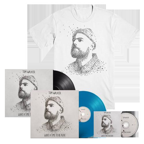 Buy Online Tom Walker - What A Time To Be Alive CD (Signed) + Blue Vinyl (Signed) + Vinyl (Signed) + T-Shirt