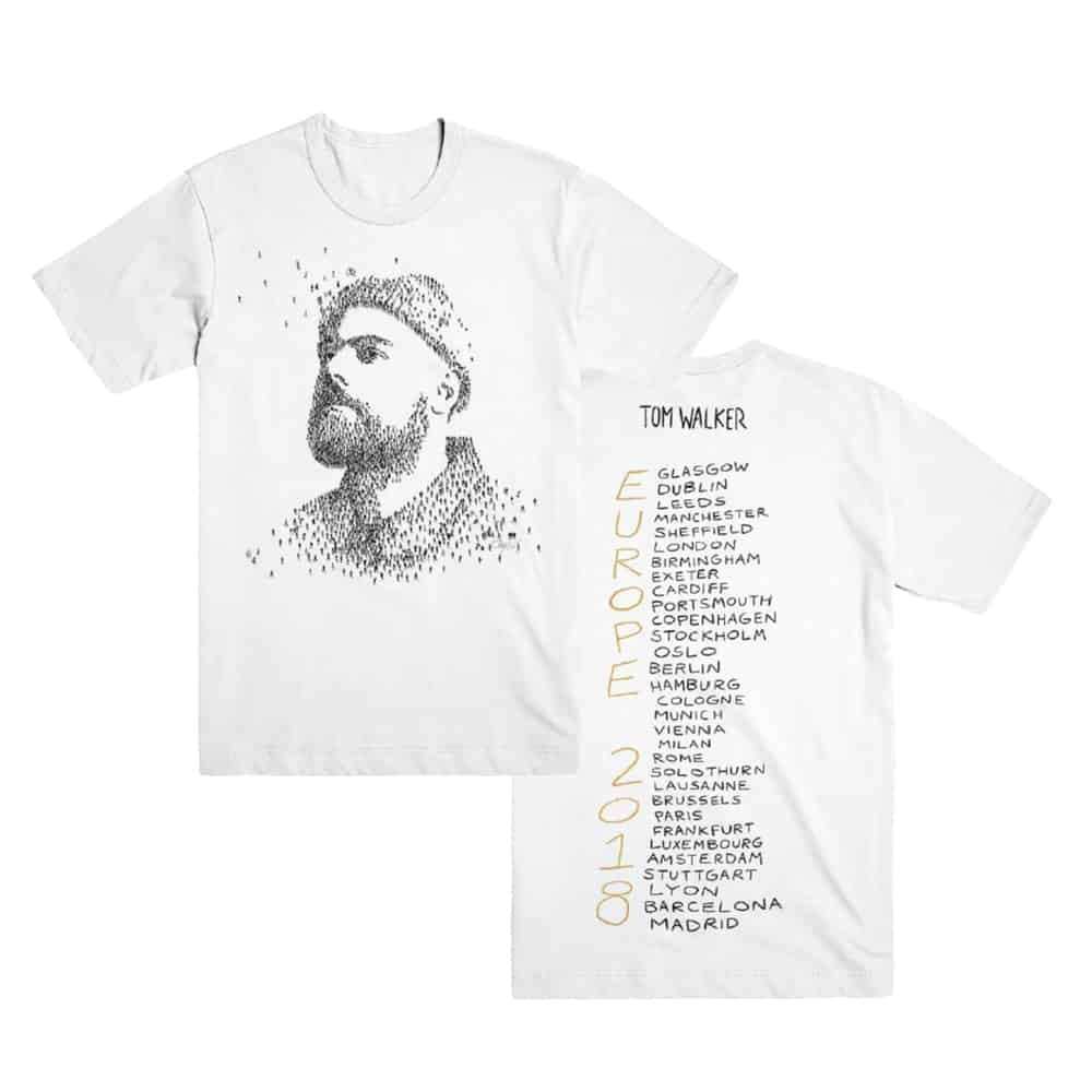 Buy Online Tom Walker - White Album Tour T-Shirt