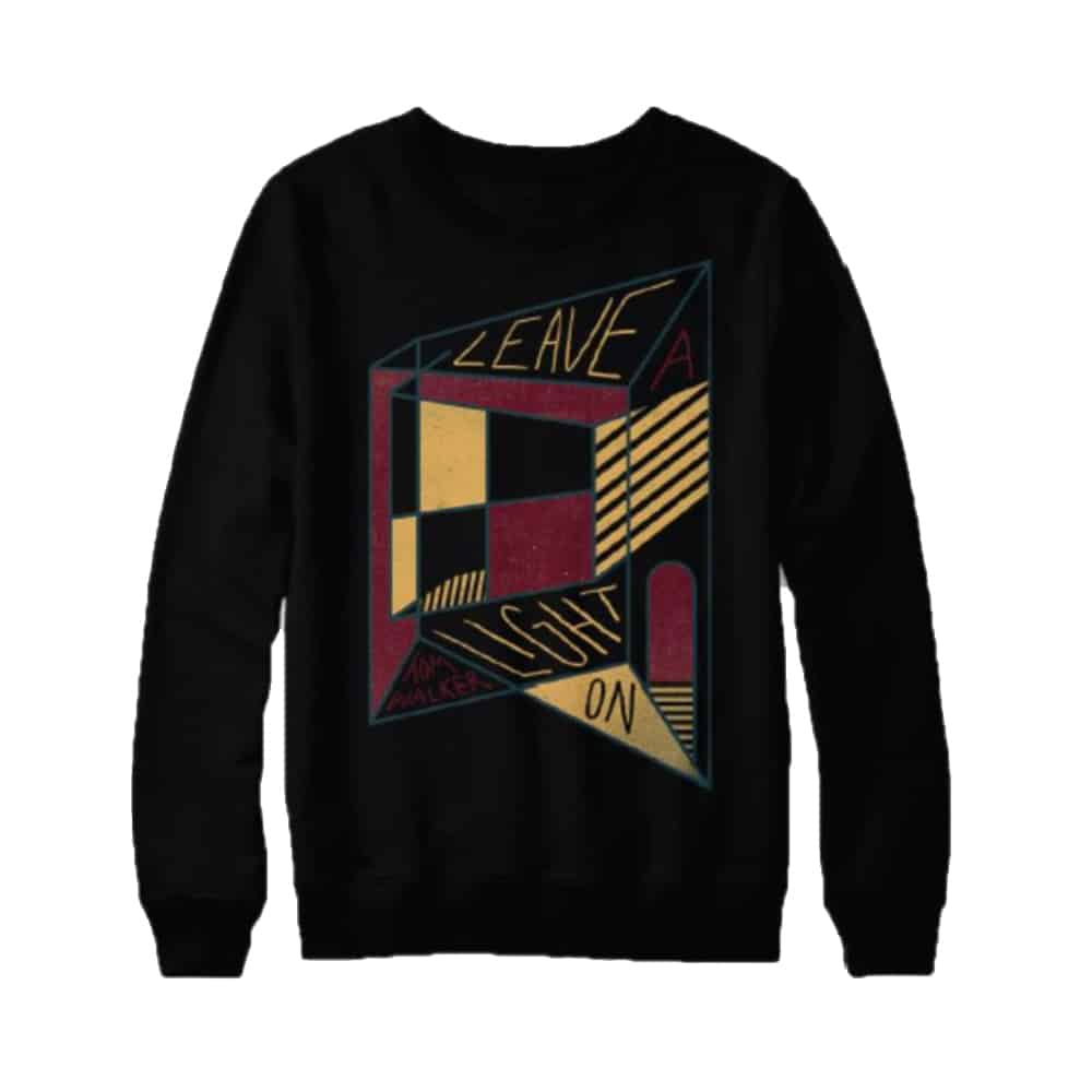 Buy Online Tom Walker - Geo Crew Neck Sweat Black