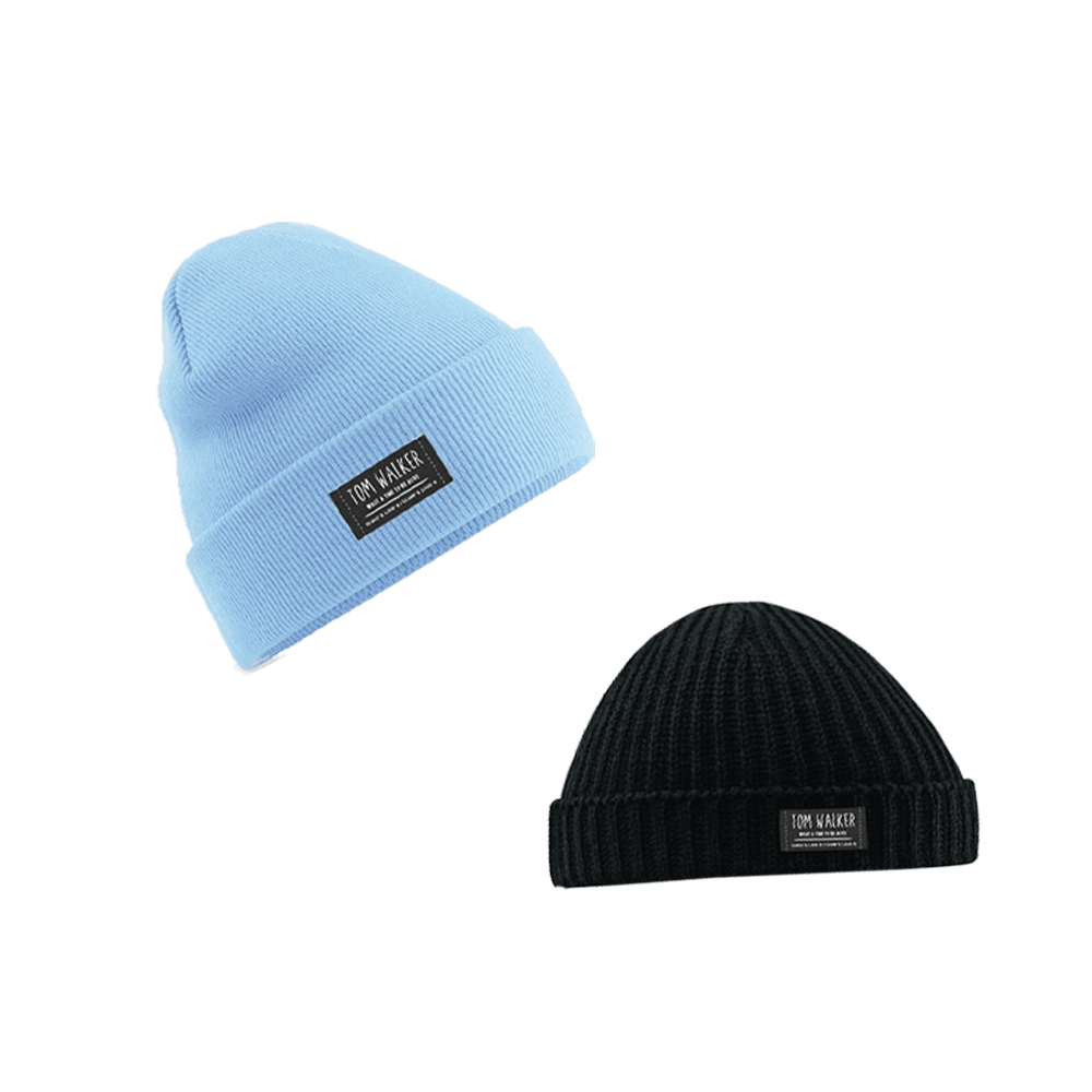 Buy Online Tom Walker - Black Trawler Hat / Pastel Blue Beanie