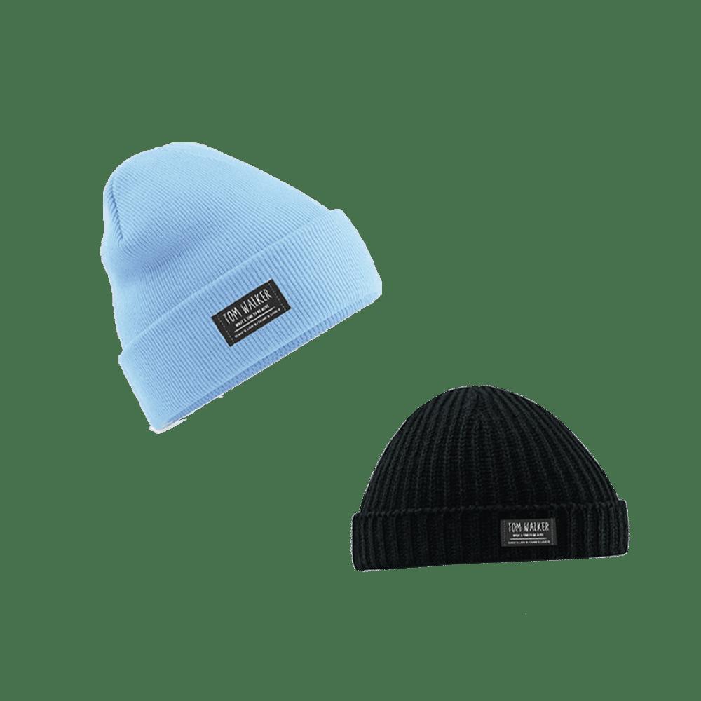 Buy Online Tom Walker - Black Trawler Hat / Pastel Blue Beanie