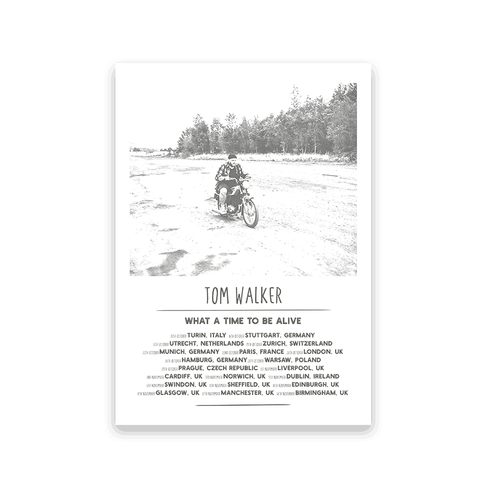 Buy Online Tom Walker - A3 Tour Screen Print