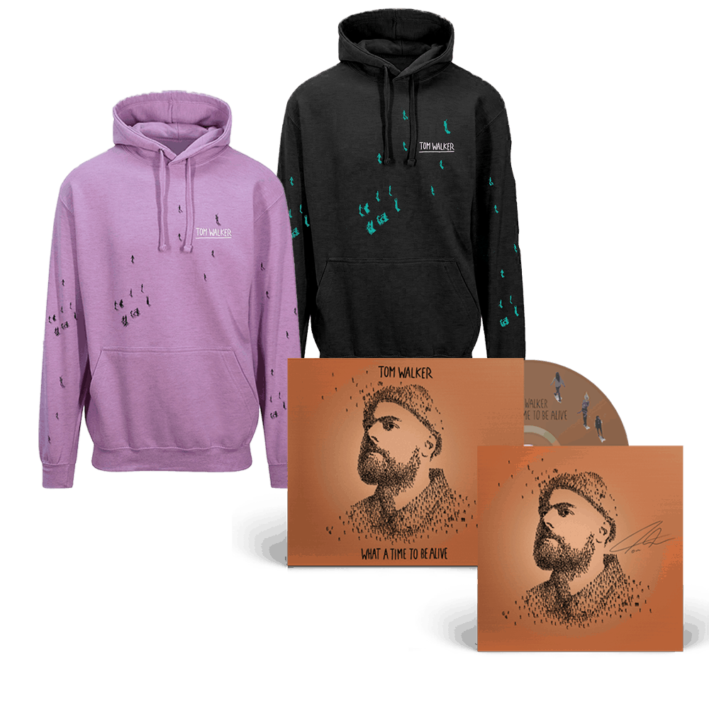 Buy Online Tom Walker - What a Time To Be Alive (Deluxe Edition) CD + Choice of Hoodie (Signed Insert)