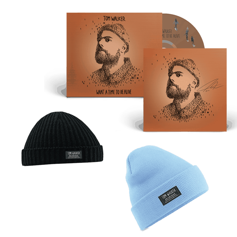 Buy Online Tom Walker - What a Time To Be Alive (Deluxe Edition) Signed CD + Choice of Beanie