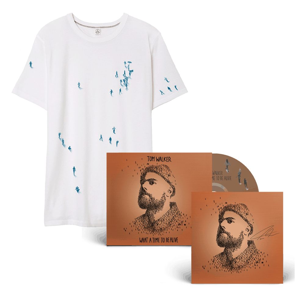 Buy Online Tom Walker - What a Time To Be Alive (Deluxe Edition) CD + Tiny People White T-Shirt (Signed Insert)