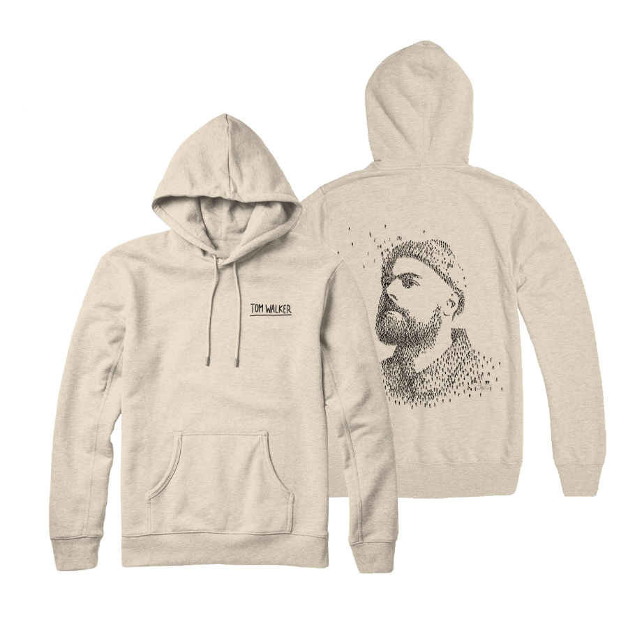 Buy Online Tom Walker - Album Logo Desert sand Hoodie