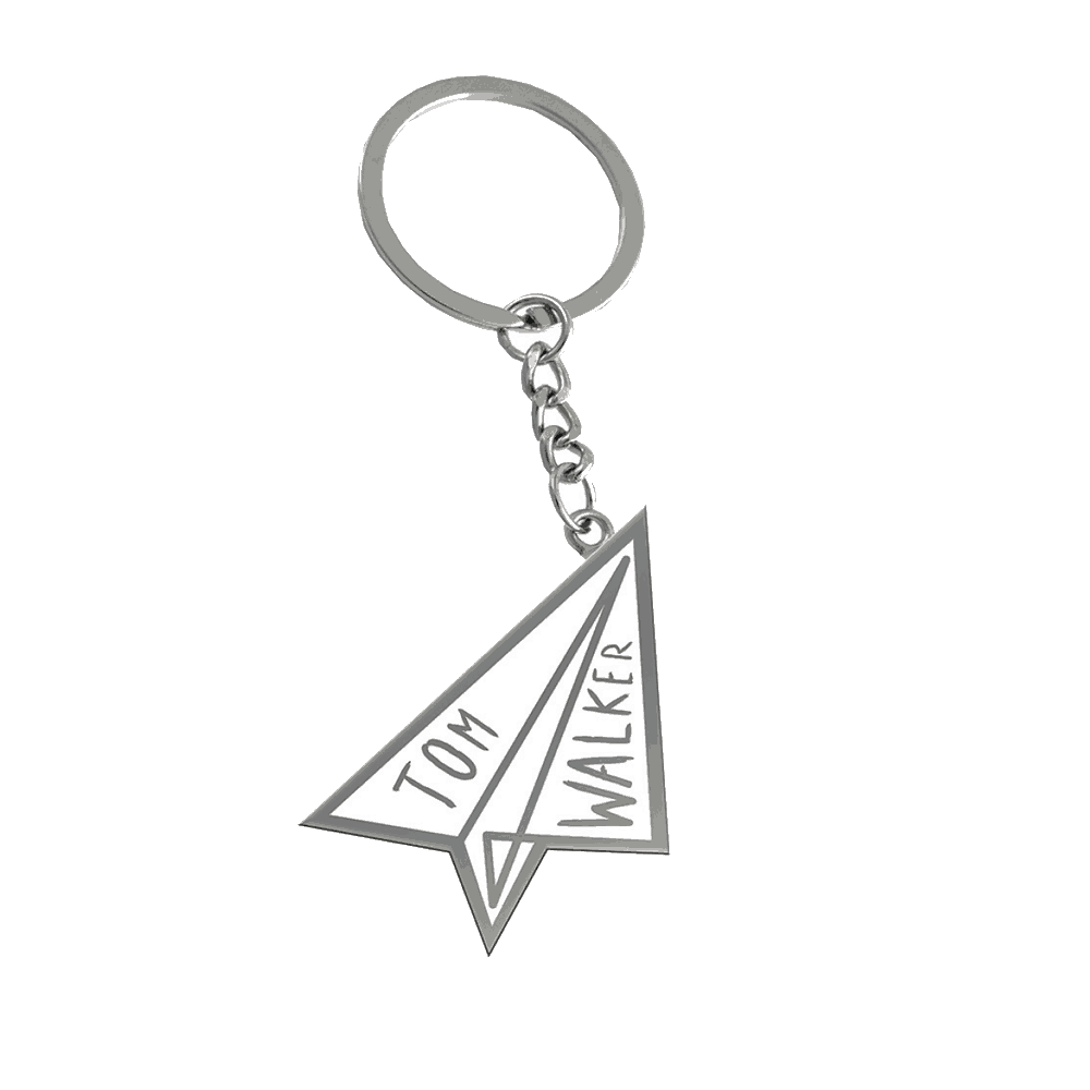 Buy Online Tom Walker - Paper plane keyring Torch keyring
