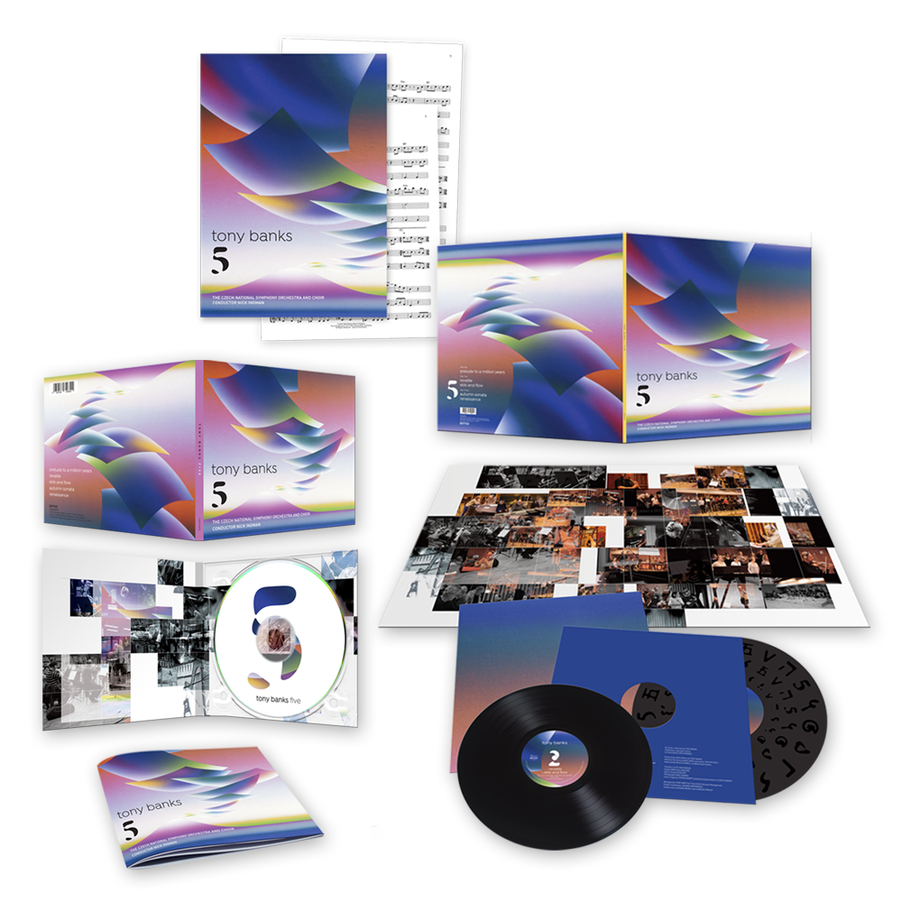 Buy Online Tony Banks - '5' CD Album + Vinyl LP + Sheet Music Folio