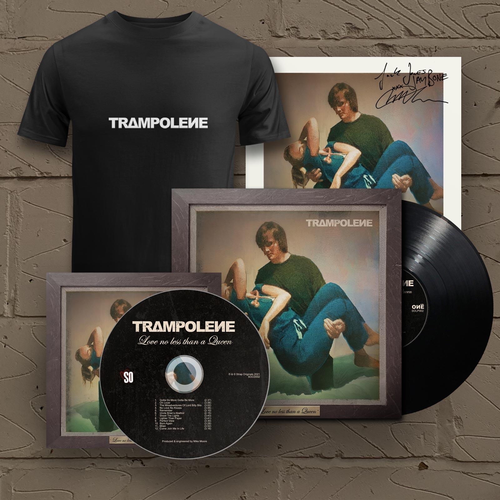 "Black LP & Signed CD & T-Shirt (Includes Signed 12"" Print)"