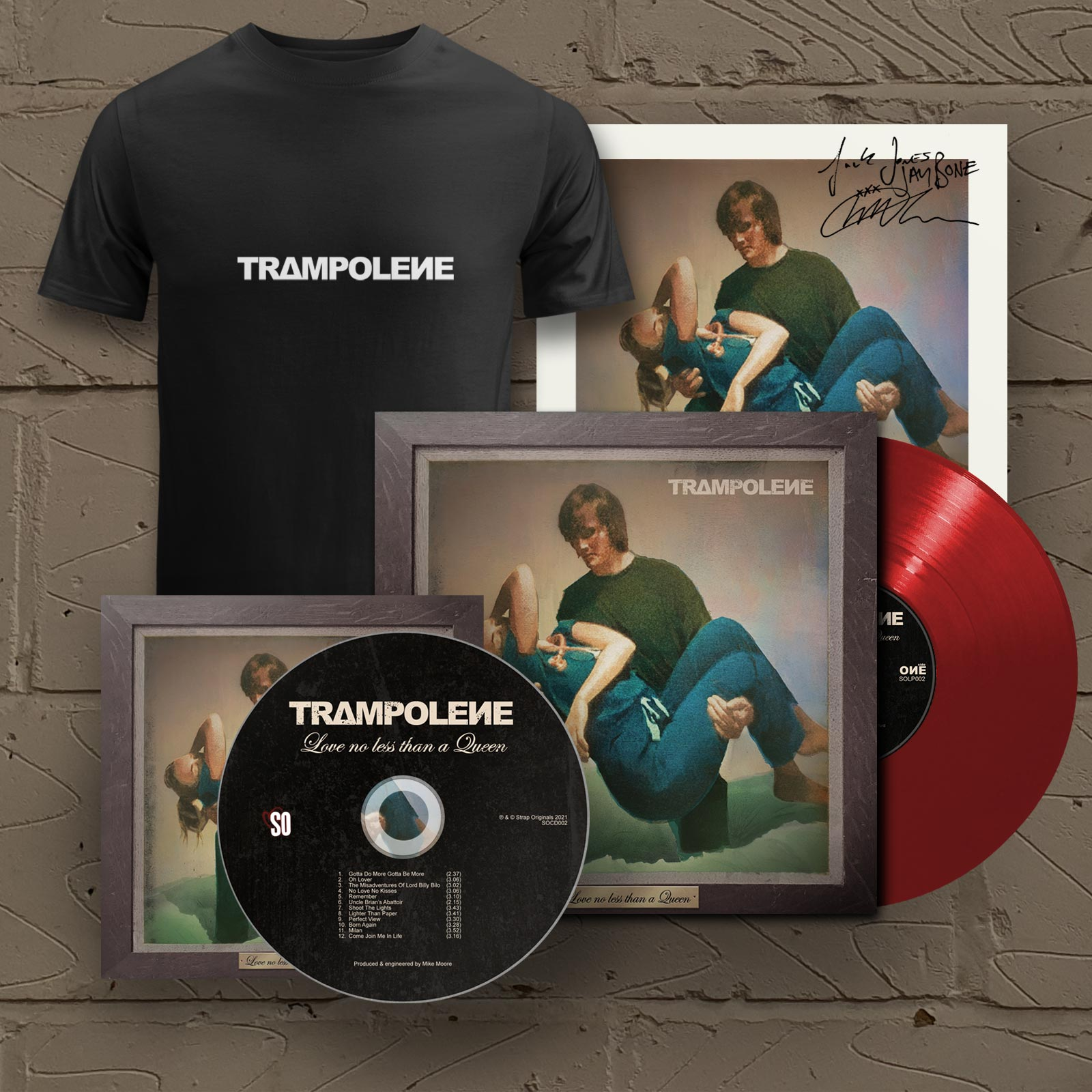 """Red LP & Signed CD & T-Shirt (Includes Signed 12"""" Print)"""
