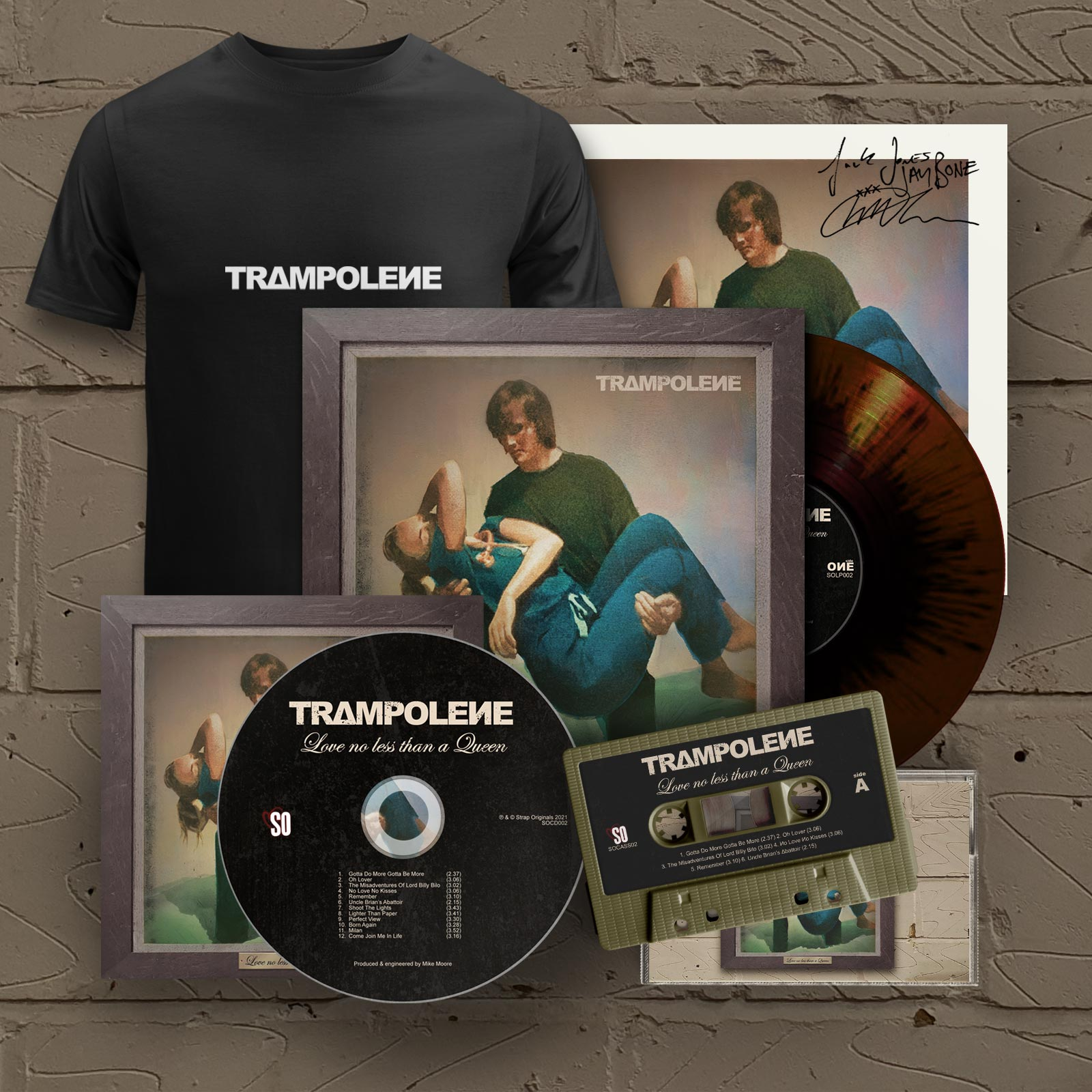 """Marble LP & Signed CD & Cassette & T-Shirt (Includes Signed 12"""" Print)"""