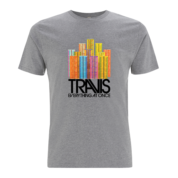 Colour Buildings Grey T-Shirt