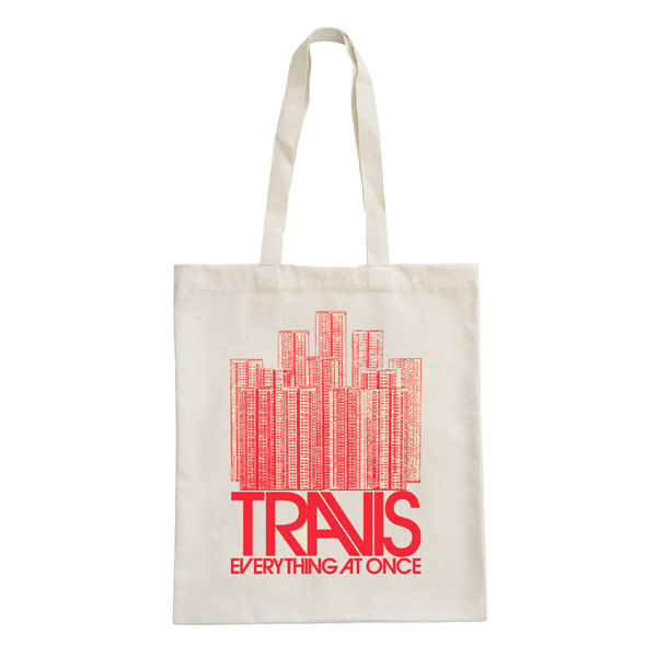 Buildings Red Tote Bag