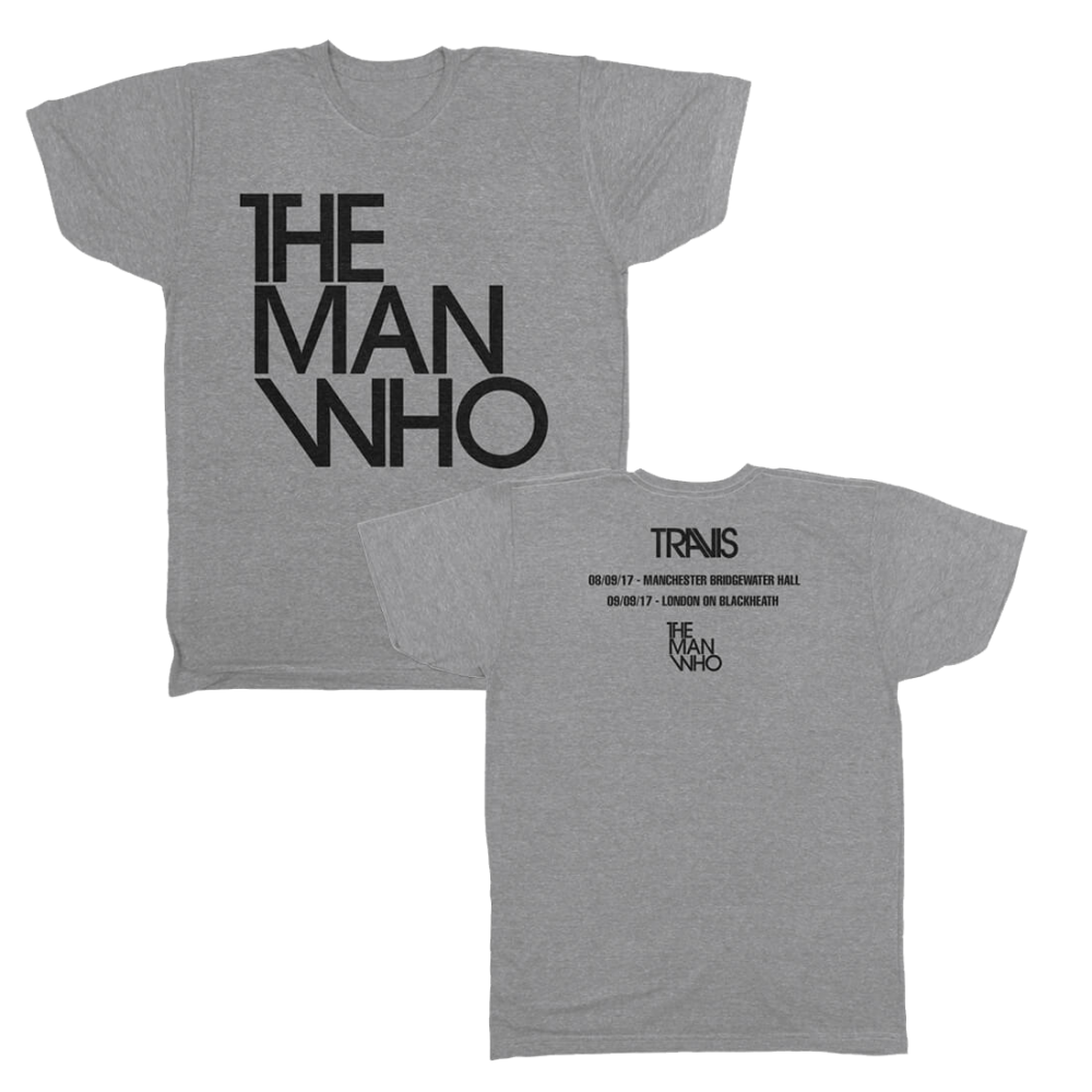 Buy Online Travis - The Man Who Tour Dates T-Shirt (Limited Stock)