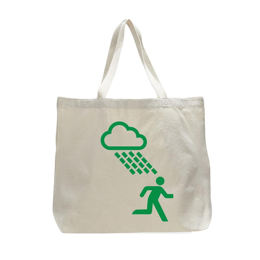 Buy Online Travis - Extra Large White Rain Man Tote Bag