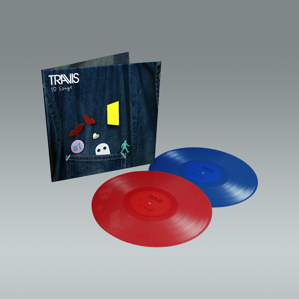 Buy Online Travis - 10 Songs Deluxe Double Coloured + Art Print (Signed)