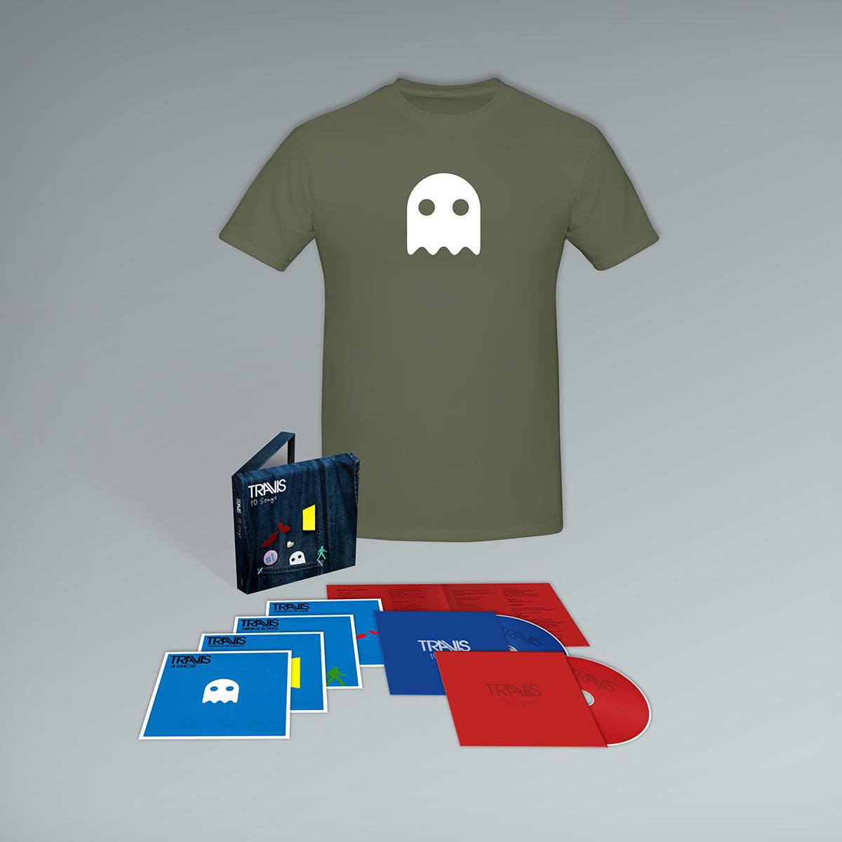 Buy Online Travis - 10 Songs Deluxe Double CD (Inc. Album Demos) + T-Shirt