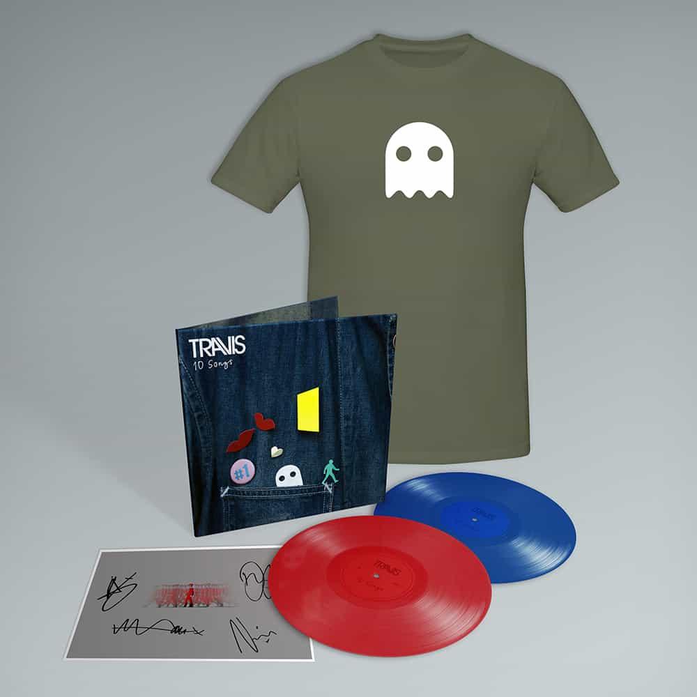 Buy Online Travis - 10 Songs Deluxe Double Coloured Vinyl (Inc. Album Demos) + Art Print (Signed) + T-Shirt