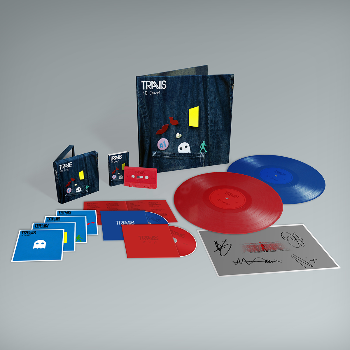 Buy Online Travis - 10 Songs Deluxe Double CD (Inc. Album Demos) + Lyric Sheet (Signed) + Deluxe Double Coloured Vinyl (Inc. Album Demos) + Art Print (Signed) + Cassette (Exclusive)