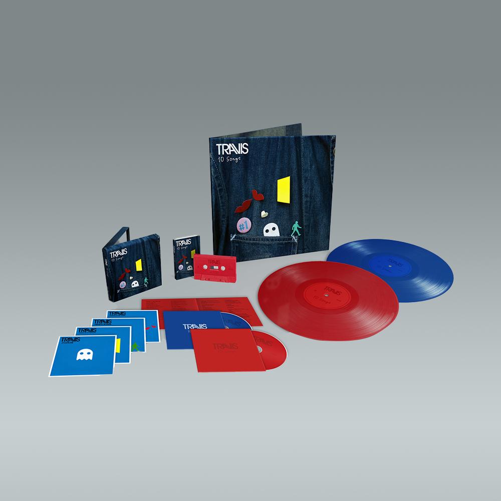 Buy Online Travis - 10 Songs Deluxe Double CD (Inc. Album Demos) + Deluxe Double Coloured Vinyl (Inc. Album Demos) + Cassette (Exclusive)