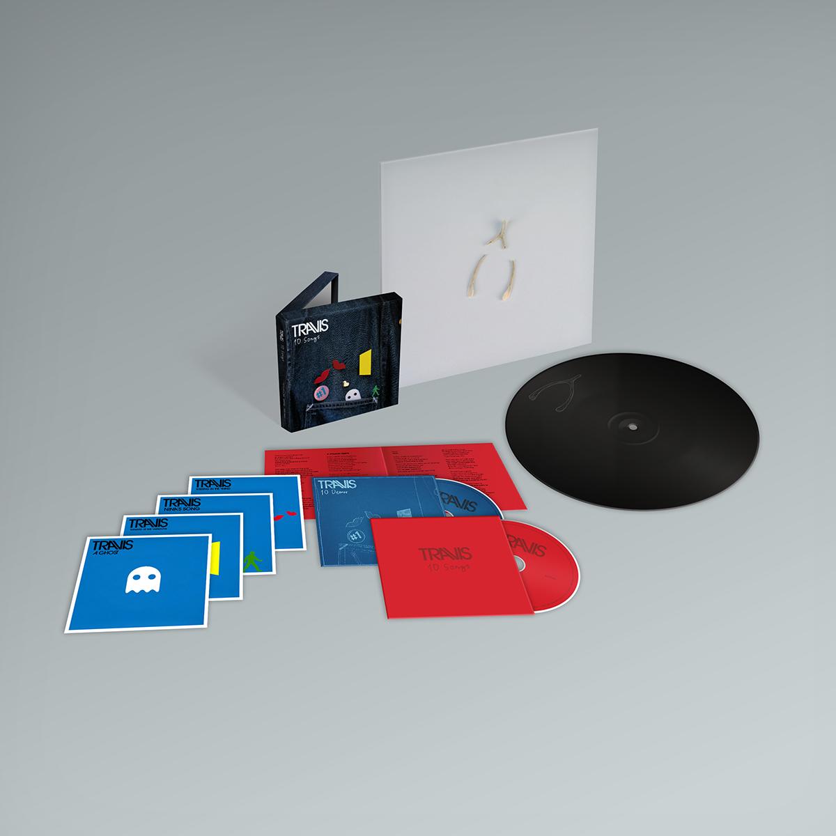 Buy Online Travis - 10 Songs Deluxe Double CD Album (Inc. Album Demos) + Valentine 10-Inch Vinyl (Exclusive)