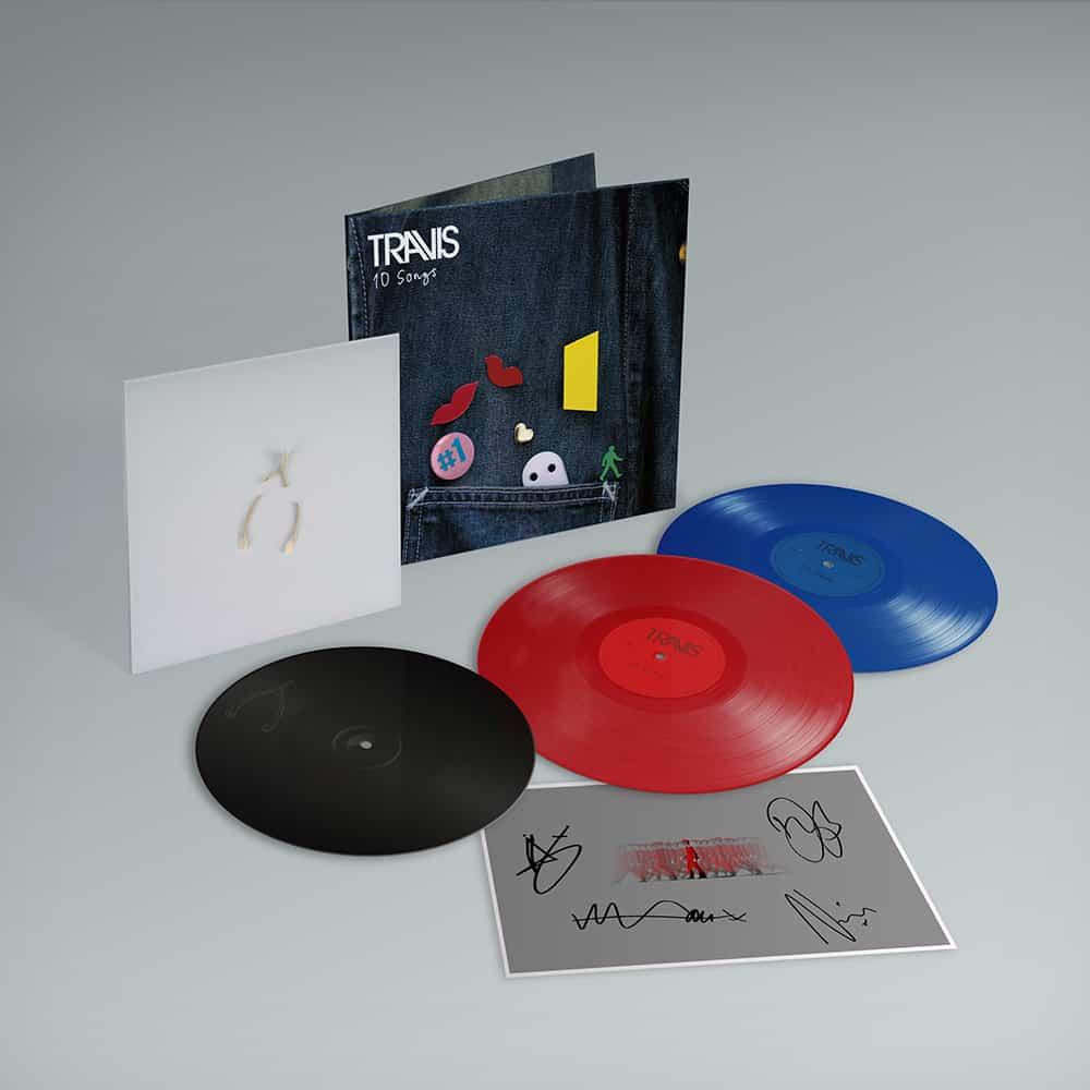 Buy Online Travis - 10 Songs Deluxe Double Coloured Heavyweight Vinyl (Inc. Album Demos) + Art Print (Signed) + Valentine 10-Inch Vinyl (Exclusive)