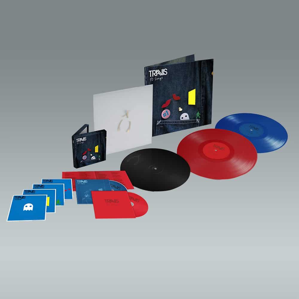 Buy Online Travis - 10 Songs Deluxe Double CD (Inc. Album Demos) + Deluxe Double Coloured Vinyl (Inc. Album Demos) + Art Print (Signed) + Valentine 10-Inch Vinyl (Exclusive)