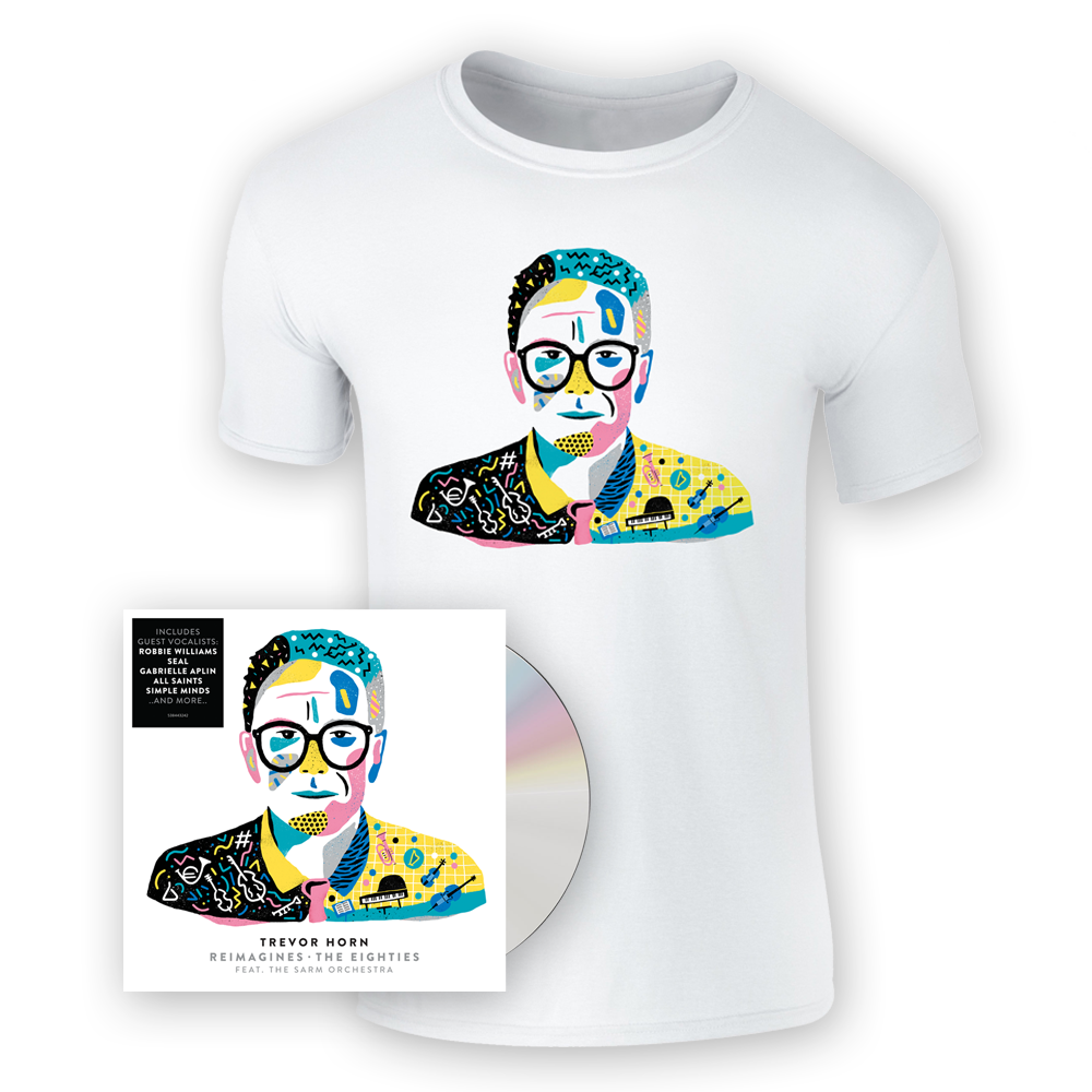 Buy Online Trevor Horn - Reimagines: The Eighties Feat. The Sarm Orchestra (Signed) CD Album + T-Shirt
