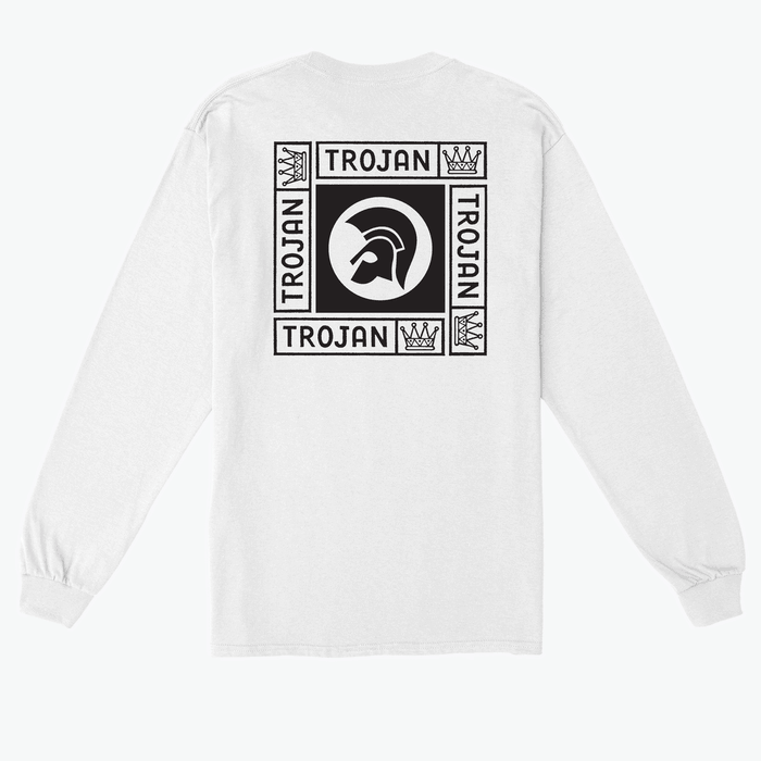 Buy Online Trojan Records - Trojan Crown Long Sleeve T-Shirt