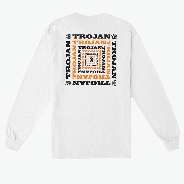 Buy Online Trojan Records - Trojan Helmet Long Sleeve T-Shirt