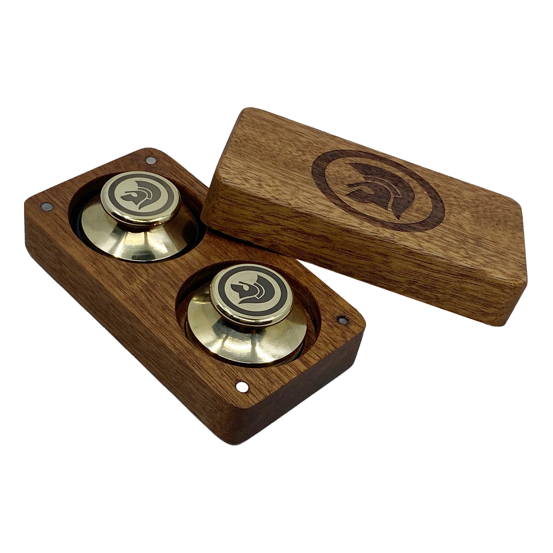 Buy Online Trojan Records - Boxed Set Of Record Weights (Brass)