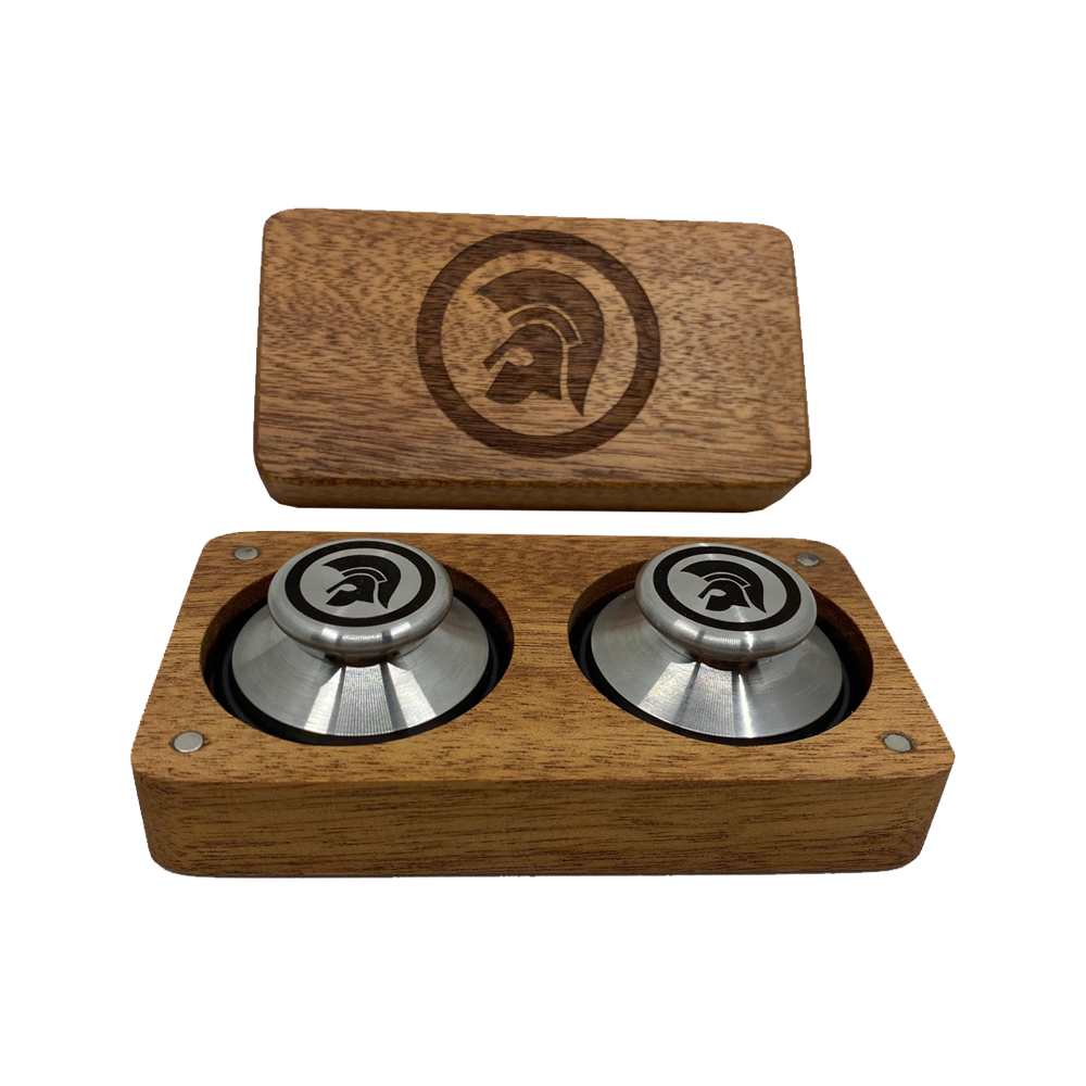 Buy Online Trojan Records - Boxed Set Of Record Weights (Stainless Steel)