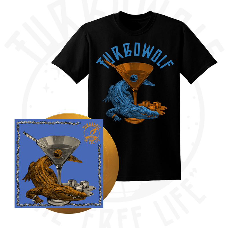 Buy Online Turbowolf - The Free Life Vinyl (Signed, Ltd Edition Gold + Download) + T-Shirt