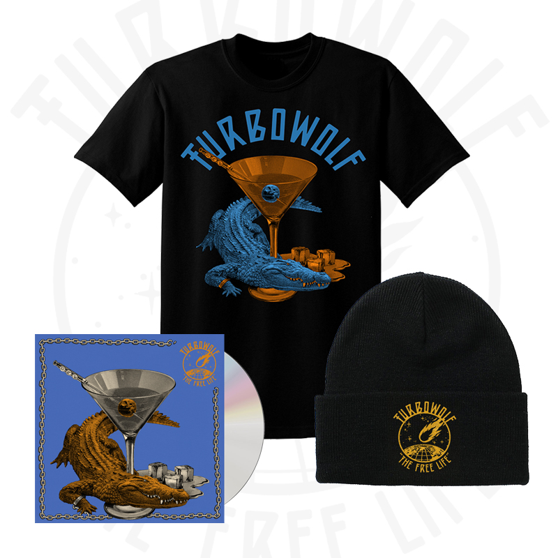 Buy Online Turbowolf - The Free Life CD (Signed) + T-Shirt + Beanie